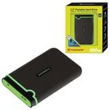 """Диск жесткий внешний TRANSCEND, 500 Gb, 2,5"""", USB 3.0, пластик, черный"""