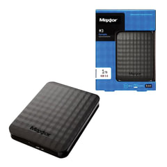 "Диск жесткий внешний SEAGATE Maxtor M3 Portable, 1Tb, 2,5"", USB 3.0, пластик, черный"