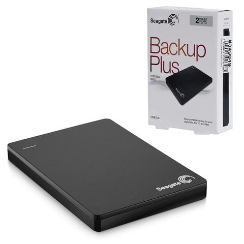 """Диск жесткий внешний SEAGATE Original BackUp Plus Portable Drive 2 Tb, 2.5"""", USB 3.0, черный"""