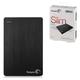 """Диск жесткий внешний SEAGATE Original Slim 500 Gb, 2.5"""", USB 3.0, алюм., черный"""