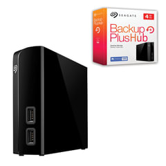 "Диск жесткий внешний SEAGATE Backup Plus Hub, 4 Tb, 3,5"", USB 3.0, черный"