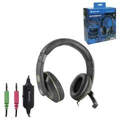 Наушники с микрофоном (гарнитура) DEFENDER Warhead HN-G110, проводная, 2,1 м, черная