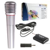 Микрофон DEFENDER MIC-140, беспроводной, радио 87-92 МГц, радиус действия 15 м, серый