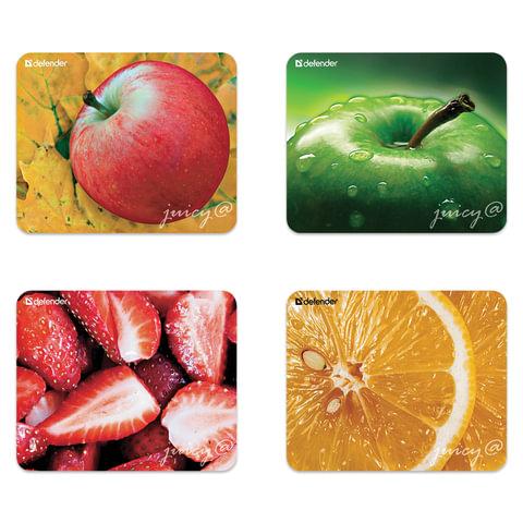 Коврик для мыши DEFENDER Juicy sticker, полипропилен на клейкой основе, 220×180×0,4 мм, 4 вида