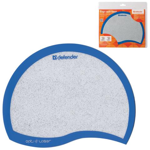 Коврик для мыши DEFENDER Ergo opti-laser, спвх+полиуритан, 215×165×1,2 мм, синий