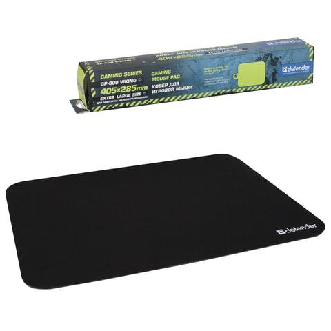 Коврик для мыши DEFENDER GP-800 Viking, ткань+натуральная резина, 405×285×4 мм, черный