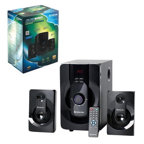 Колонки компьютерные DEFENDER Blaze M40Pro, 2.1, 40 Вт, Bluetooth, FM-тюнер, пластик/дерево, черные
