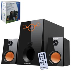 Колонки компьютерные DEFENDER Sirocco M30 Pro, 2.1, 30 Вт, MP3, SD/<wbr/>US, пульт ДУ, дерево, черные