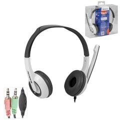 Наушники с микрофоном (гарнитура) DEFENDER Esprit 055, проводная, 2 м, стерео, с оголовьем, mini jack 3,5 мм