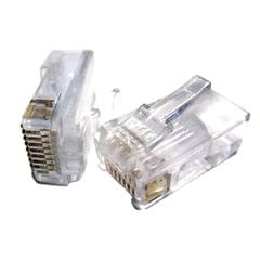 Коннекторы (вилки) RJ-45, комплект 100 шт., универсальные, категория 5e, 8p8c, PLUG3UP6/<wbr/>5