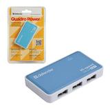 Хаб DEFENDER QUADRO POWER, USB 2.0, 4 порта, порт для питания