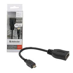 Кабель-переходник HDMI-micro HDMI, 14,5 см, DEFENDER, F-M, для передачи цифрового аудио-видео