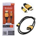 Кабель HDMI A(M) — C(M) (mini) DEFENDER HDMI08-04PRO, version 1.4, 1 м, блистер