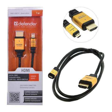 Кабель HDMI-mini HDMI, 1м, DEFENDER, M-M, для передачи цифрового аудио-видео