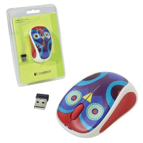 Мышь беспроводная LOGITECH M238 Ophelia Owl, 2 кнопки + 1 колесо-кнопка, оптическая