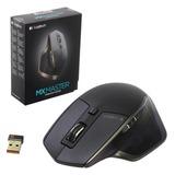 Мышь беспроводная LOGITECH MX Master, 5 кнопок + 2 колеса-кнопки, лазерная, черно-коричневая