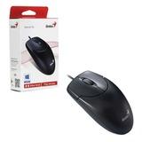 Мышь проводная GENIUS NetScroll 120 V2, USB, 2 кнопки + 1 колесо-кнопка, оптическая, чёрная