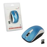 Мышь беспроводная оптическая GENIUS NX-7010, 2 кнопки + 1 колесо-кнопка, бело-голубой
