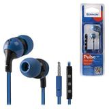 Наушники с микрофоном (гарнитура) DEFENDER Pulse 452, проводная, 1,2 м, вкладыши, для Android, синяя
