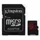 Карта памяти micro SDXC, 64 GB, KINGSTON, UHS-I U3, 90 Мб/<wbr/>сек. (class 10), с адаптером