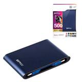 Диск жесткий внешний SILICON POWER ARMOR А80, 500 Гб, USB 3.1, синий
