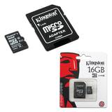 Карта памяти micro SDHC, 16 GB, KINGSTON, скорость передачи данных 45 Мб/<wbr/>сек. (class 10), с адаптером