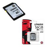 Карта памяти SDHC, 16 GB, KINGSTON, скорость передачи данных 45 Мб/<wbr/>сек. (class 10)