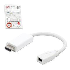 Кабель-переходник miniDisplayPort-HDMI, 0,1 м, CABLEXPERT, F-M, экранированный, A-mDPF-HDMIM-001-W
