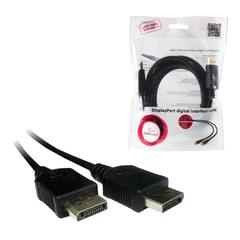 Кабель DisplayPort, 1,8 м, GEMBIRD, M-M, экранированный, для передачи цифрового видео, CC-DP-6