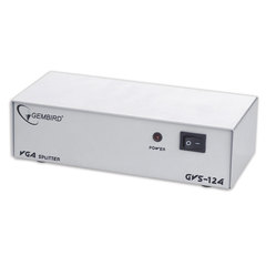 Разветвитель видеосигнала VGA GEMBIRD,15F/<wbr/>15F, 1 ПК на 4 монитора, каскадируемый, GVS124