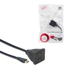 Разветвитель HDMI CABLEXPERT, F-F, 2-портовый, для передачи цифрового аудио-видео, DSP-2PH4-002