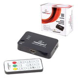 Переключатель HDMI CABLEXPERT, 19Fx3/<wbr/>19F, электронный, 3 устройства на 1 монитор/<wbr/>ТВ, пульт ДУ, DSW-HDMI-33
