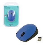 Мышь беспроводная LOGITECH M171, 2 кнопки + 1 колесо-кнопка, оптическая, синяя
