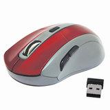 Мышь беспроводная DEFENDER ACCURA MM-965, USB, 4 кнопки + 1 колесо-кнопка, оптическая, красно-серая