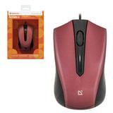 Мышь проводная DEFENDER ACCURA MM-950, USB, 2 кнопки + 1 колесо-кнопка, оптическая, чёрно-красная