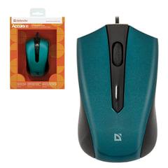 Мышь проводная DEFENDER ACCURA MM-950, USB, 2 кнопки+1колесо-кнопка, оптическая, чёрно