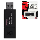 Флэш-диск 128 GB, KINGSTON DataTraveler 100 G3, USB 3.0, черный