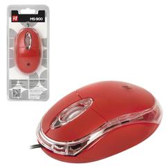 Мышь проводная DEFENDER MS-900, USB, 2 кнопки + 1 колесо-кнопка, оптическая, красная