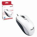 Мышь проводная GENIUS DX-110, USB, 2 кнопки + 1 колесо-кнопка, оптическая, белая
