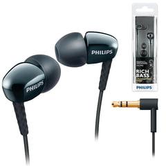 Наушники PHILIPS SHE3900BK/<wbr/>51, проводные, 1,2 м, стерео, вкладыши, черные