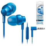 Наушники с микрофоном (гарнитура) PHILIPS SHE3855BL/<wbr/>00, проводные, 1,2 м, стерео, вкладыши, синие