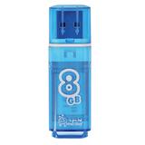 Флэш-диск 8 GB, SMARTBUY Glossy, USB 2.0, синий