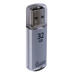 Флэш-диск 32 GB, SMARTBUY V-Cut, USB 2.0, металлический корпус, серебристый