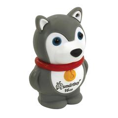 Флэш-диск сувенирный 16 GB, SMARTBUY Wild «Собачка» USB 2.0, серый
