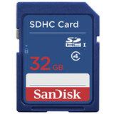 Карта памяти SDHC, 32 GB, SANDISK, скорость передачи данных 4 Мб/<wbr/>сек., (class 4)