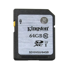 Карта памяти SDXC, 64 GB, KINGSTON, UHS-I U1, 45 Мб/<wbr/>сек. (class 10)