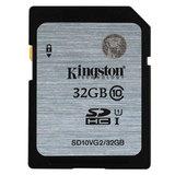 Карта памяти SDHC, 32 GB, KINGSTON, скорость передачи данных 45 Мб/<wbr/>сек (class 10)