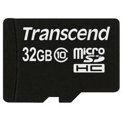 Карта памяти micro SDHC, 32 GB, TRANSCEND Premium 200x, UHS-I U1, 30 Мб/<wbr/>сек. (class 10)