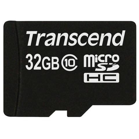 Карта памяти micro SDHC, 32 GB, TRANSCEND Premium 200x, UHS-I U1, 30 Мб/сек. (class 10)