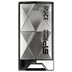Флэш-диск 32 GB SILICON POWER Touch 850 USB 2.0, титановый